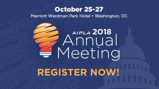 AIPLA Annual Meeting 2018