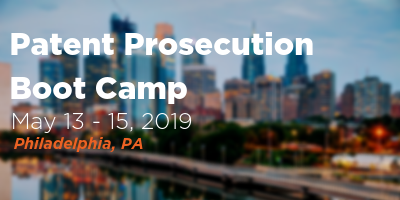 Patent Prosecution Boot Camp Banner 400